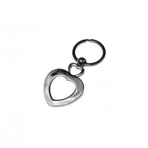 Szív alakú fém kulcstartó