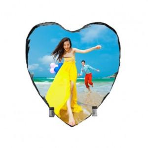 Szív alakú kőlap, 15 cm