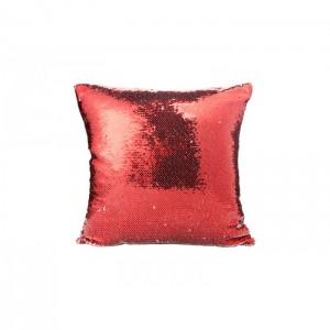 Glitteres párna, piros